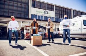 Spreefreunde und bttr.live spenden Schutzmasken für Berliner Tafel