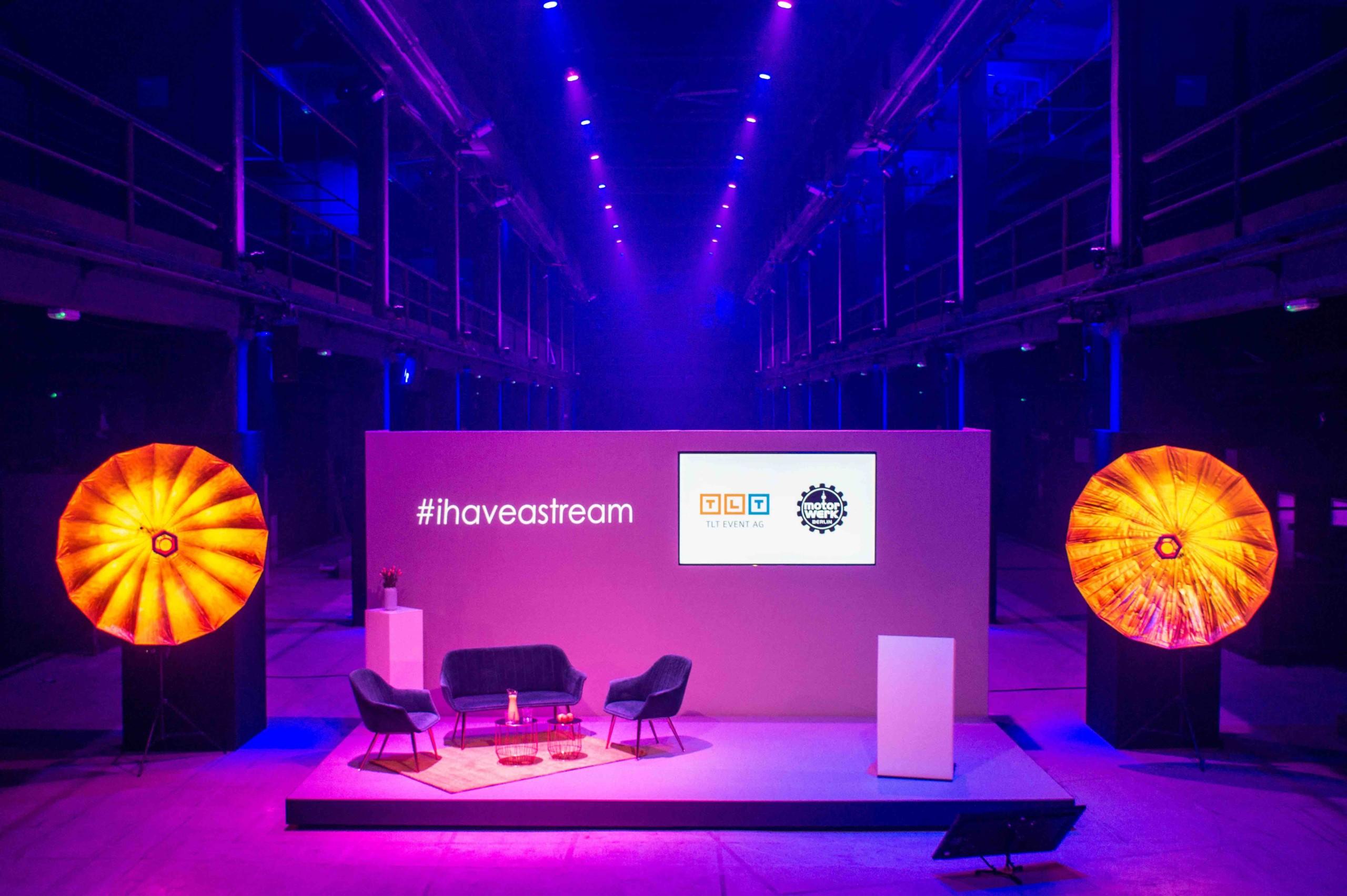 TLT Event bietet Streaming Studio im Motorwerk Berlin