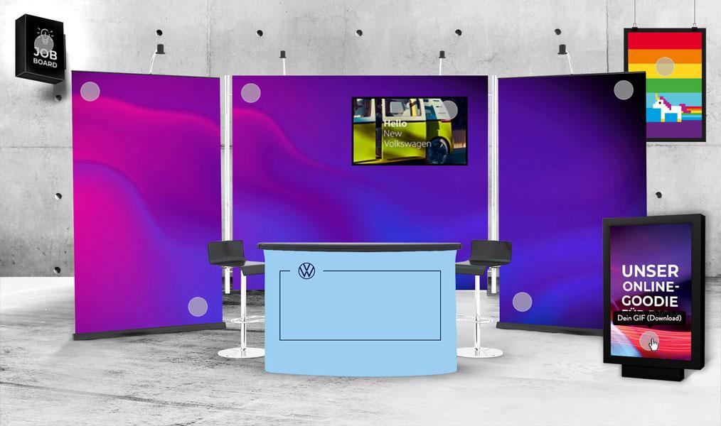 Spreefreunde kreieren digitalen Recruiting-Messestand für Volkswagen