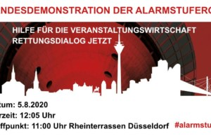 #AlarmstufeRot: Veranstaltungswirtschaft startet Mittwochsdemos