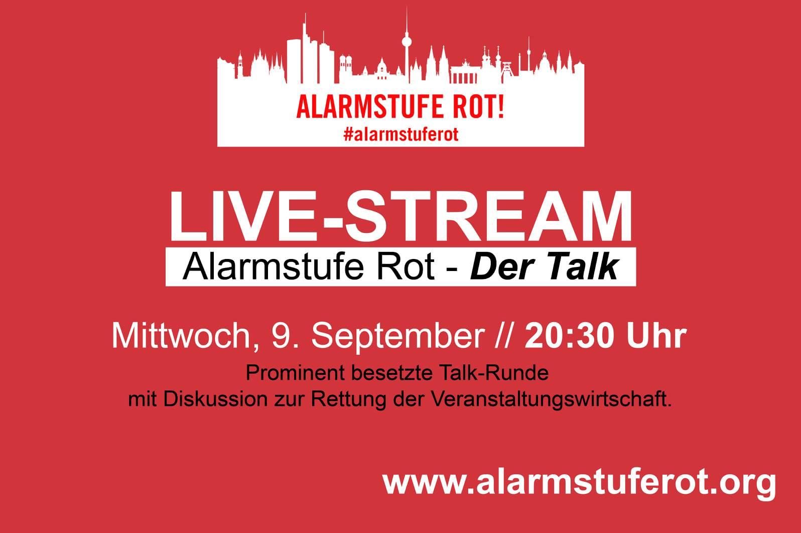 """Alarmstufe Rot""-Demo in Berlin endet mit Live-Talk"