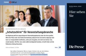 Breaking News: Österreich spannt Schutzschirm für Veranstaltungsbranche auf